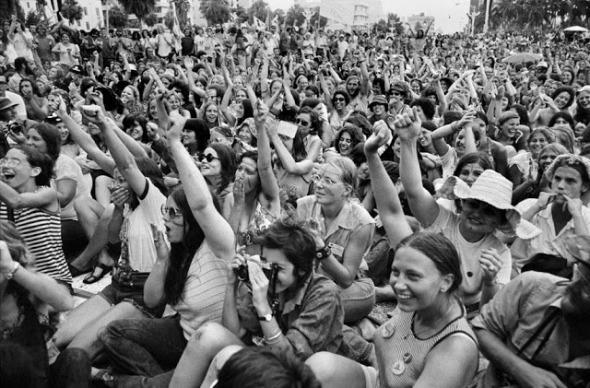 Women's liberation rally in Miami, 1972. (Abbas/Magnum Photos)