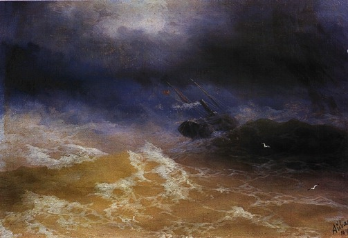 """Storm at Sea,"" Ivan Aivasovsky (1899)"