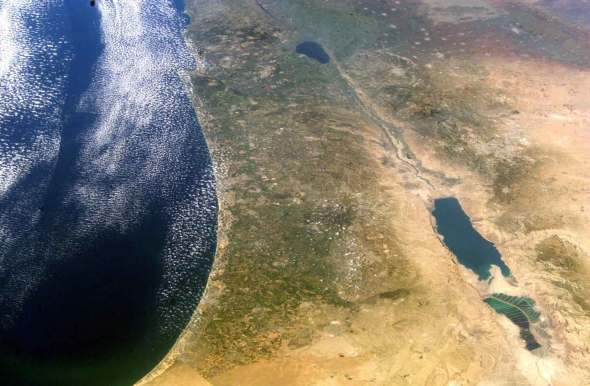 satellite-image-of-israel